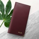 Personalised Luxury Leather Travel Wallet – Initials