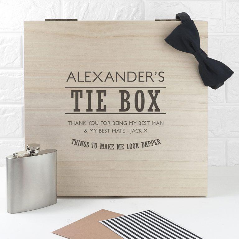 Personalised Memory Box – Gentleman Tie Box