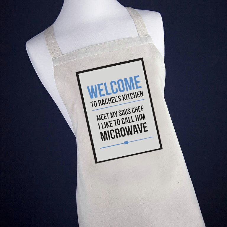 Personalised Apron – Sous Chef is a Microwave