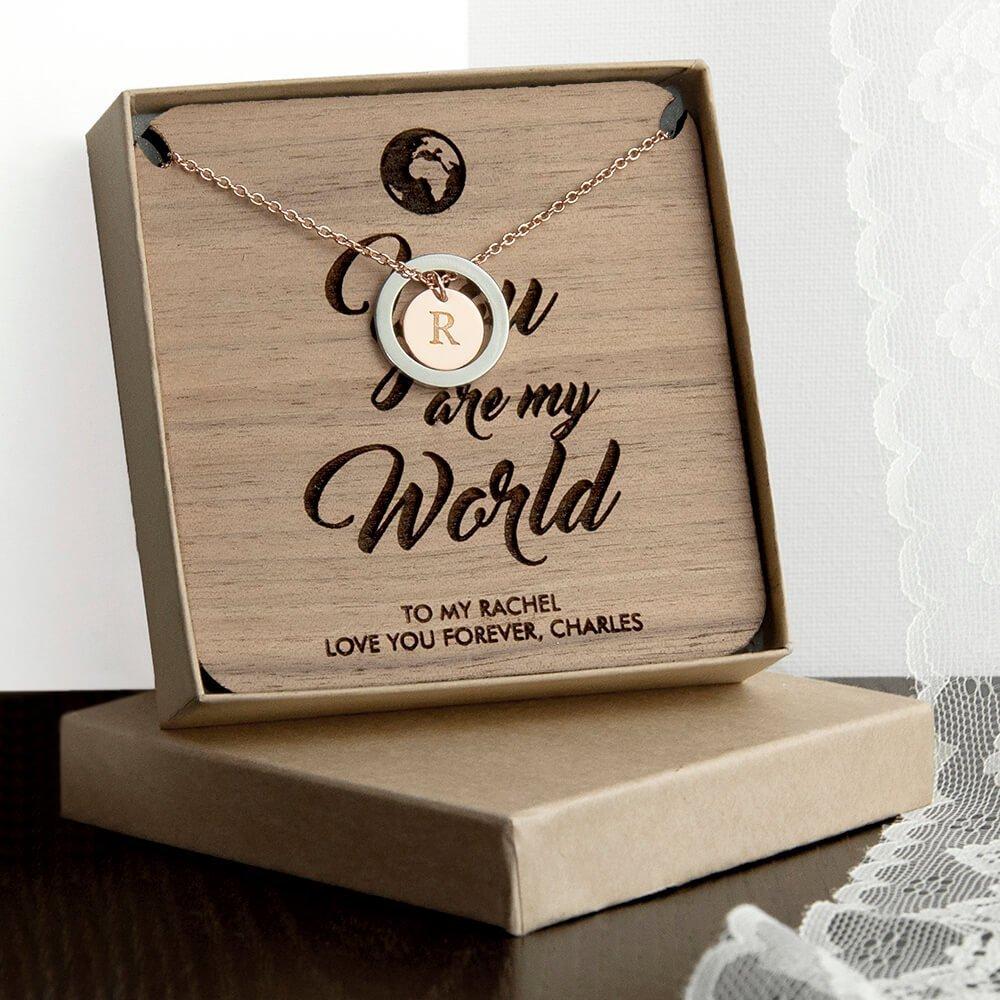 Personalised Necklace & Keepsake – Initial & Message