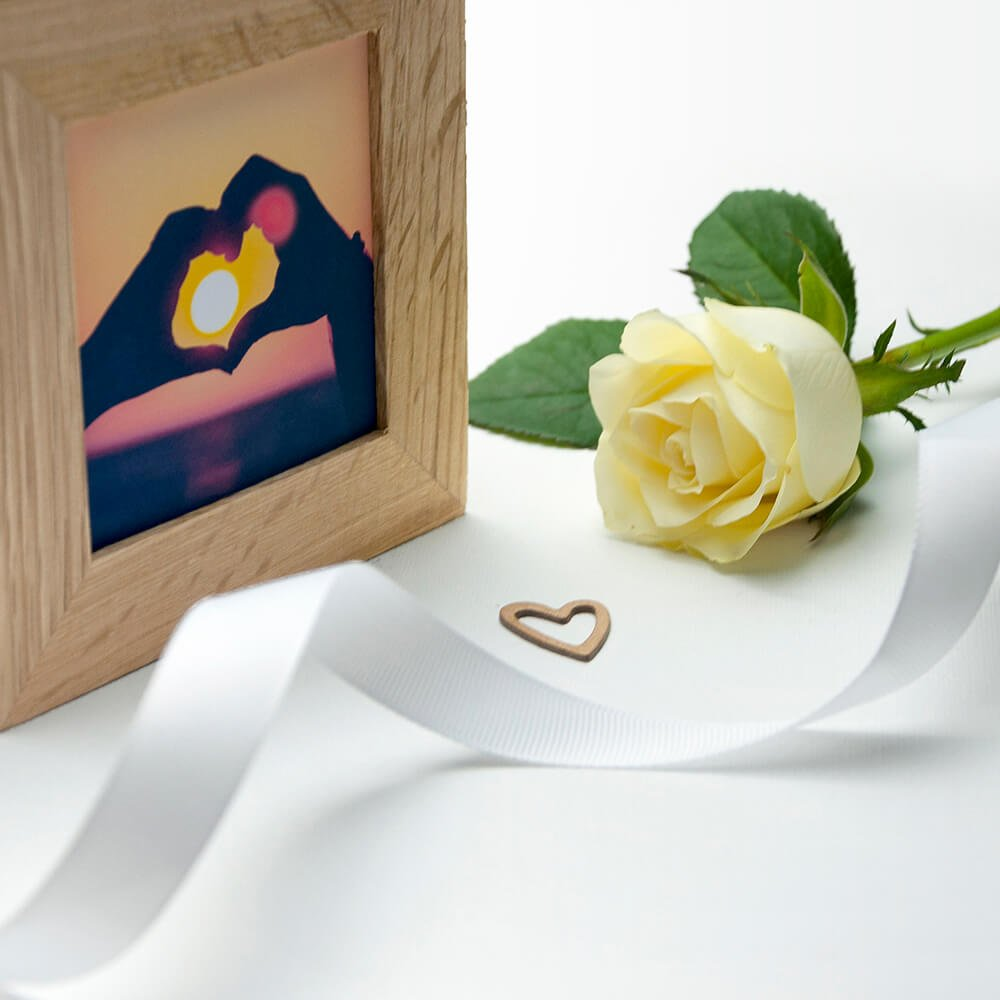Personalised Oak Photo Cube – I Love You The Way You Are