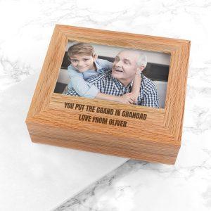 Personalised Photo Keepsake Box – Father's Day