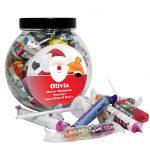 Personalised Santa Sweet Gift Jar