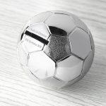Personalised Silver Plated Football Money Box (Piggybank)