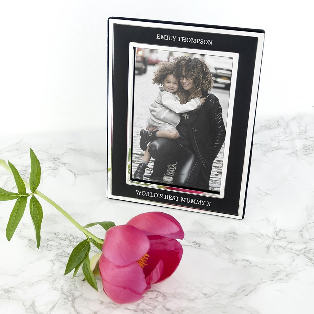 Personalised Silver Plated Photo Frame – Mother's Day