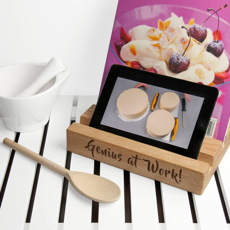 Personalised Tablet Holder – Double Kitchen Tablet & Recipe Book