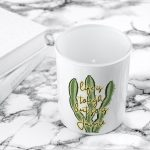 Personalised Tea Light Holder – Tough as Cactus