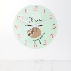 Personalised Wall Clock – Hang In There