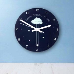 Personalised Wall Clock – Sweet Dreams