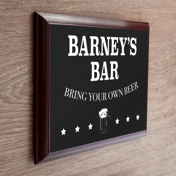 Personalised Wooden Sign – Bar