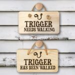 Personalised Wooden Sign – Dog Walking