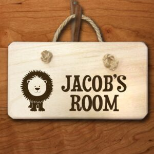 Personalised Wooden Sign – Lion