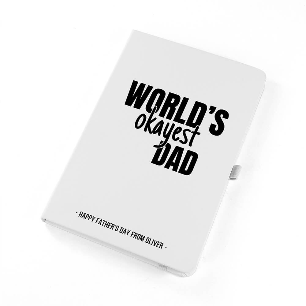 Personalised A5 Notebook – World's Okayest Dad