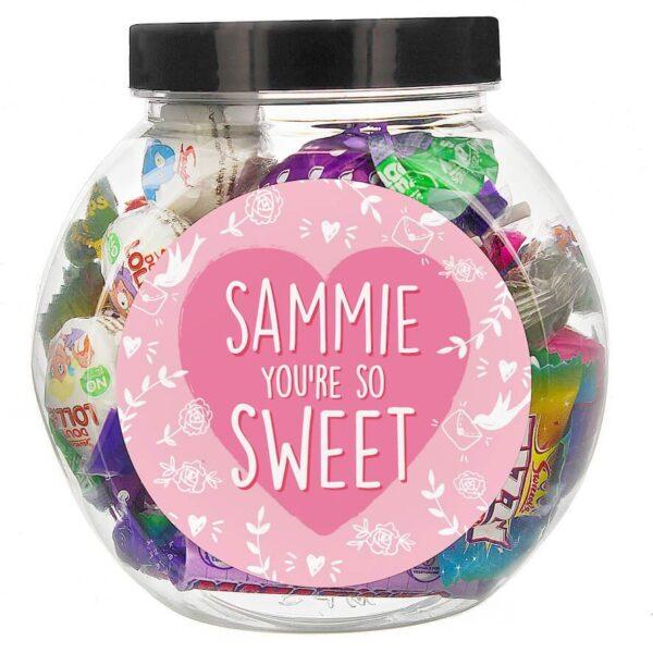 Personalised You're So Sweet Gift Jar
