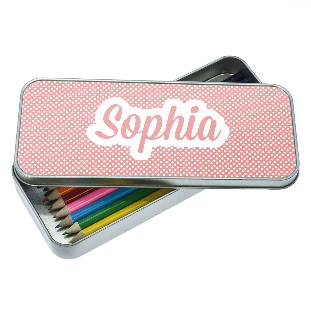 Personalised Pink Dotty Pencil Case