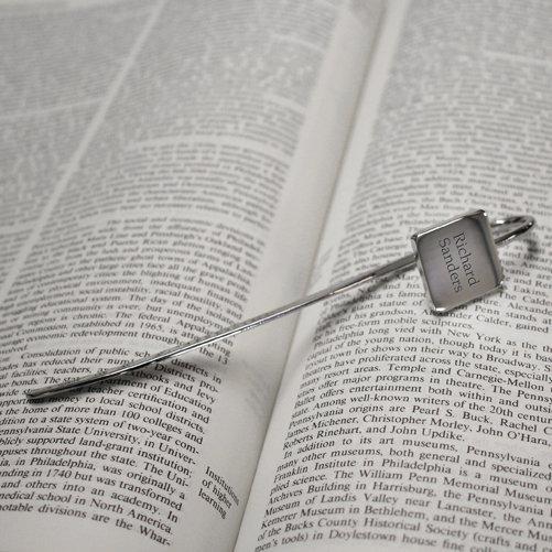 Personalised Square Chrome Bookmark