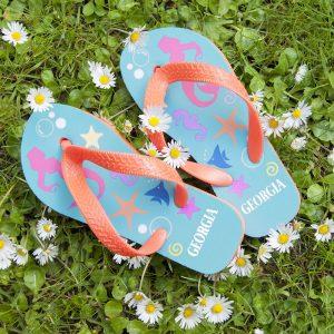 Personalised Kids Flip Flops – Under the Sea
