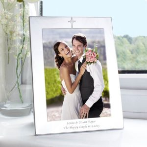 Personalised Silver 5×7 Cross Photo Frame