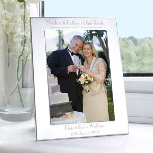 Personalised Silver 5×7 Decorative Mother & Father of the Bride Photo Frame