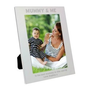 Personalised Silver 5×7 Mummy & Me Photo Frame