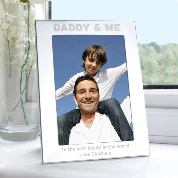 Personalised Silver 5×7 Daddy & Me Photo Frame