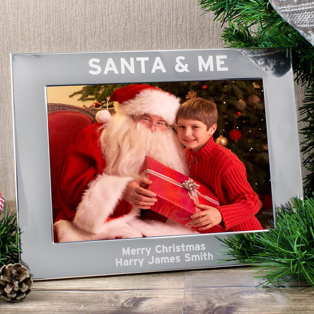 Personalised Santa & Me 7×5 Landscape Photo Frame