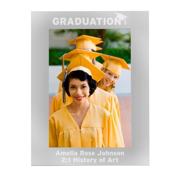 Personalised Graduation 7×5 Silver Photo Frame