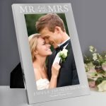 Personalised Mr & Mrs 7×5 Silver Photo Frame
