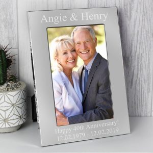Personalised 6×4 Silver Photo Frame