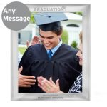 Personalised Graduation 10×8 Silver Photo Frame