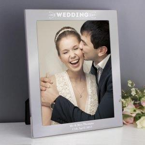 Personalised Our Wedding Day 10×8 Silver Photo Frame