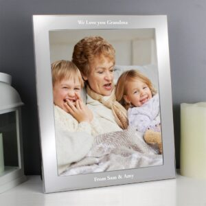 Personalised Any Message 10×8 Silver Photo Frame