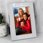 Personalised To the Moon and Back… 6×4 Silver Photo Frame