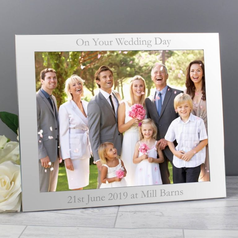 Personalised 10×8 Landscape Silver Photo Frame