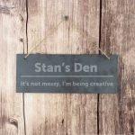 Personalised Bold Design Hanging Slate Plaque