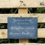 Personalised Wedding Flowers Hanging Large Slate Sign