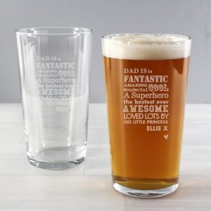 Personalised He is…Pint Glass