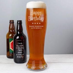 Personalised Giant Two And A Half Pint Beer Glass