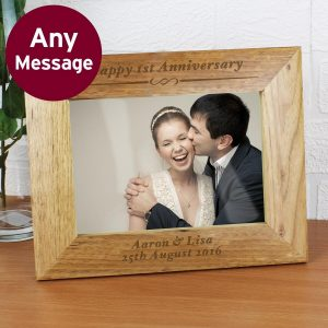 Personalised Formal 7×5 Landscape Wooden Photo Frame