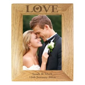 Personalised Love 7×5 Wooden Photo Frame