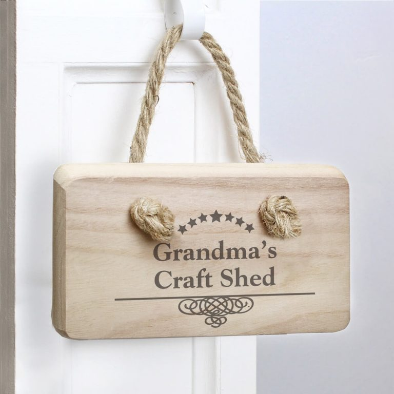 Personalised Decorative Swirl Wooden Sign