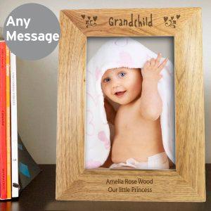 Personalised Grandchild 7×5 Wooden Photo Frame