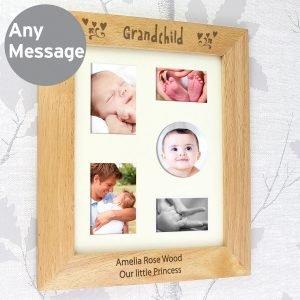 Personalised Grandchild 10×8 Wooden Photo Frame