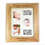 Personalised Great Grandchild 10×8 Wooden Photo Frame