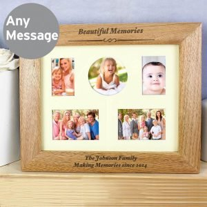 Personalised Any Message 10×8 Landscape Wooden Photo Frame
