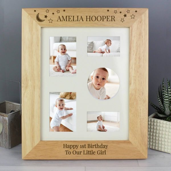 Personalised Little Stars 10×8 Wooden Photo Frame