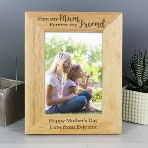 Personalised First My Mum Forever My Friend 7×5 Wooden Photo Frame