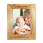 Personalised 'The Best Grandparent' 7×5 Wooden Photo Frame