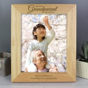 Personalised 'The Best Grandparent' 10×8 Wooden Photo Frame