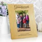 "Personalised """"The Best Grandparents"""" 6×4 Oak Finish Photo Frame"